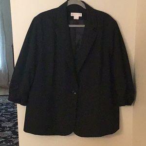 Michael Kors 18W Plus Jacket Blazer Black 3/4 Slv